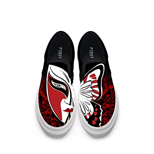 FIRST DANCE Funny Animal Printed Shoes Women Loafers Flats Fashion Slip on Shoes for Women Lion Fox Shoe Face
