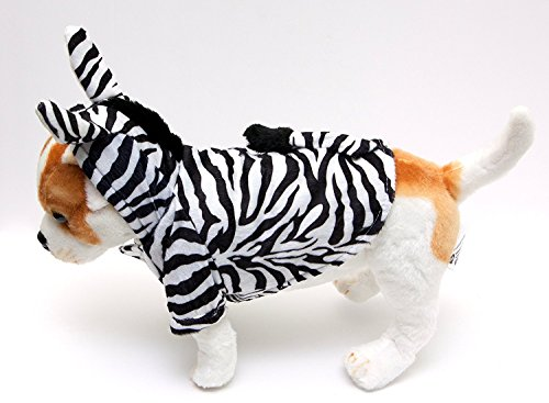 Zebra Small Dog Costume by Midlee fits 12