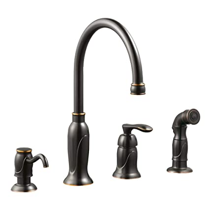 Design House 525790 Madison Kitchen Faucet With Side Sprayer And