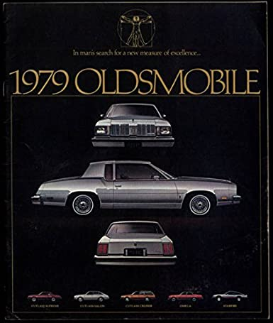 1979 Oldsmobile brochure Cutlass Supreme Salon Cruiser Omega Starfire at Amazons Entertainment Collectibles Store
