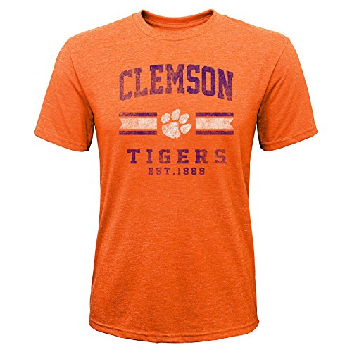 Gen 2 NCAA Clemson Tigers Youth Boys Player Pride Tri-Blend Tee, Youth Boys X-Large(18), Orange