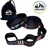 Arbor Creek Outfitters Arbor Straps by Extra Long Hammock Tree Straps- Portable & Easy Setup- Strong Non-Stretch Triple Stitching- Free Carrying Pouch- 20 Feet & 34 Loops Holds 1100 LBS!