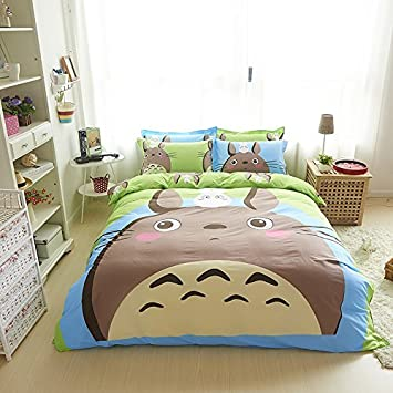 FADFAY Cute Cartoon Totoro Bed Set Kids Duvet Cover Twin Queen Size By  FADFAY