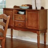 Country Kitchen Buffet 1PerfectChoice Spring Creek Kitchen Dining Side Server Buffet Table Country Style American Oak