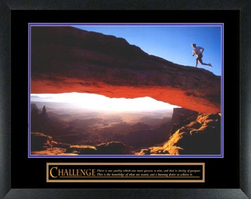 Challenge Framed Motivational Print (Challenge Cross Country Run Framed Motivational Poster)