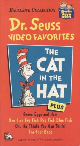 Dr. Seuss Video Favorites - The Cat in the Hat, Green Eggs and Ham, One Fish Two Fish Red Fish Blue Fish, Oh, Thinks You Can Think!, the Foot Book