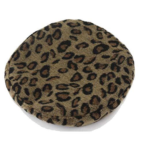 TWO-G Women's Autumn Winter Wool Beret Wild Leopard Painter Hat Literary Gratifying Woollen Cap Beret Hat