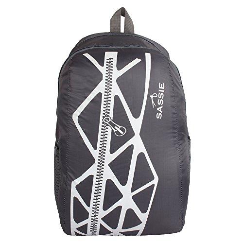Sassie Grey   Black Smart School Bag  21 litres   SSN 1034