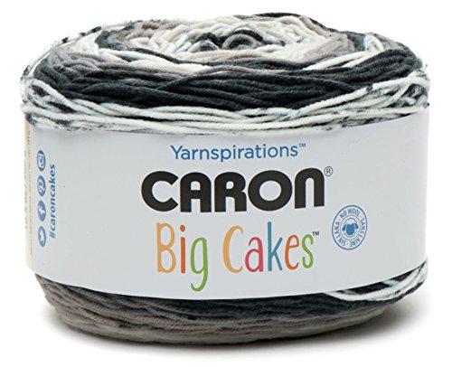 Caron Big Cakes Self Striping Yarn ~ 603 yd/551 m/10.5oz/300 g Each (Cookie Crumble)