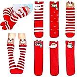Toddler Knee High Socks 2-4T - Toddler Girls Knee High Socks Christmas Socks Cotton