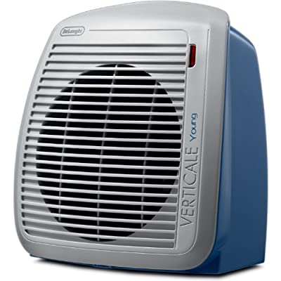 DeLonghi QUIET 1500-Watt Fan Heater with 2 Heat Settings and Built-In Safety Features