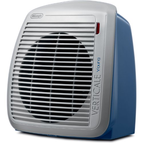DeLonghi QUIET 1500-Watt Fan Heater with 2 Heat Settings and Built-In Safety Features For Sale
