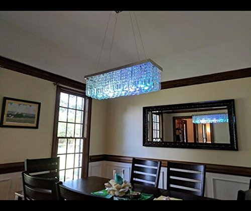 Glass Chandeliers For Dining Room: CRYSTOP Clear K9 Crystal Chandelier Dining Room Light