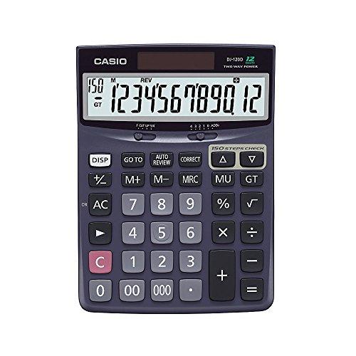 """Casio Check & Correct Desk Calculator, 1.37"""" x 5.51"""" x 7.51"""", Black, DJ120D from Casio"""
