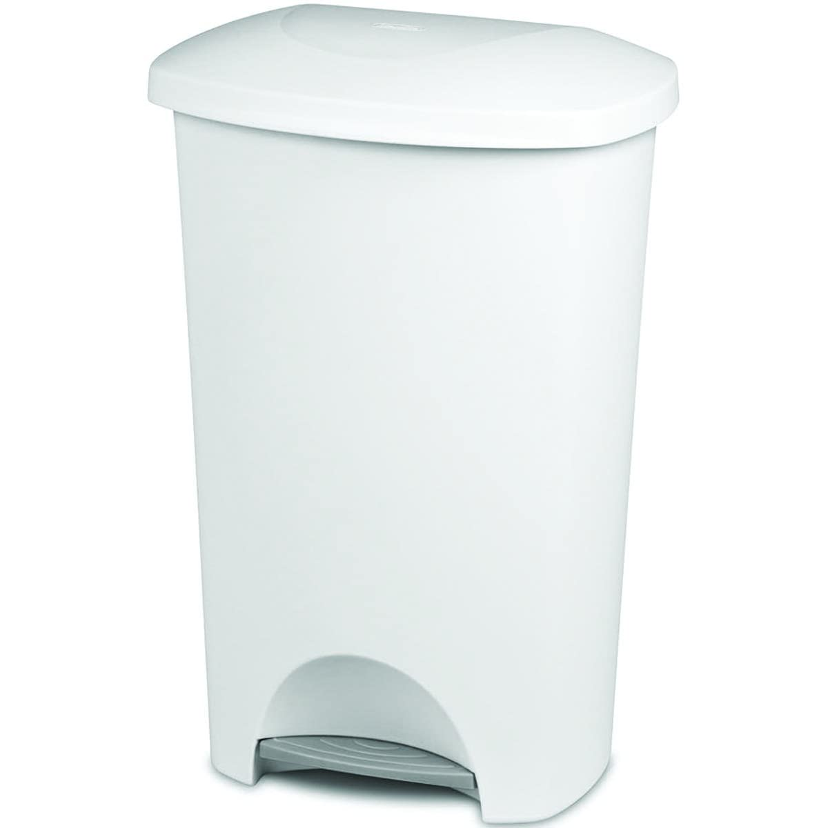 Sterilite Wastebasket Step On White 11 Gal Review