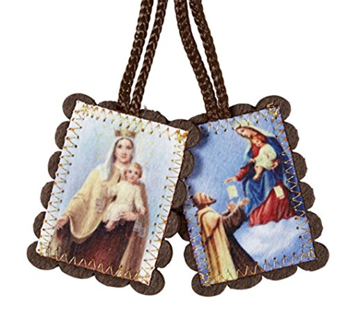 St Simon and Our Lady of Mount Carmel Wool Scapular - Large (Mount Our Lady Of Scapular Carmel)
