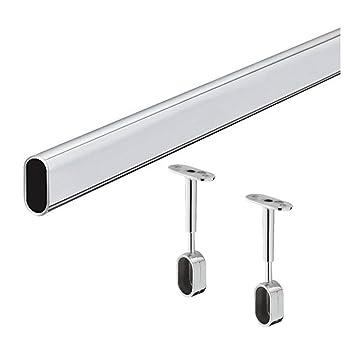 2 pcs Armario de almacenamiento de tubo de acero niquelado SECOTEC 105030315