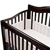 Breathable Baby 12111 Safer Bumper, Fits All Cribs (White)