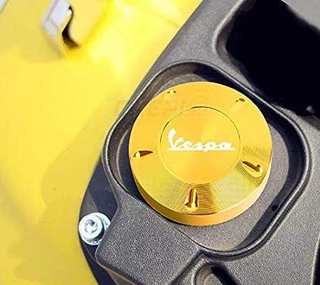 Color : BLACK LIWIN Motorbike Accessories Hot Sale Gas Fuel Tank Filler Oil Cap Cover for Piaggio Scooter VESPA GTS GTV LX Primavera Sprint 125 150 250 300 300ie Super