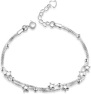 Doppio strato Star Beads charms per ragazze mano gioielli