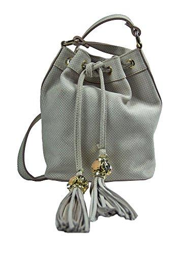 Borsa Collezione Argento Antico by Laino Industry fashion accessories - Borsa a sacchetto con accessorio gioiello