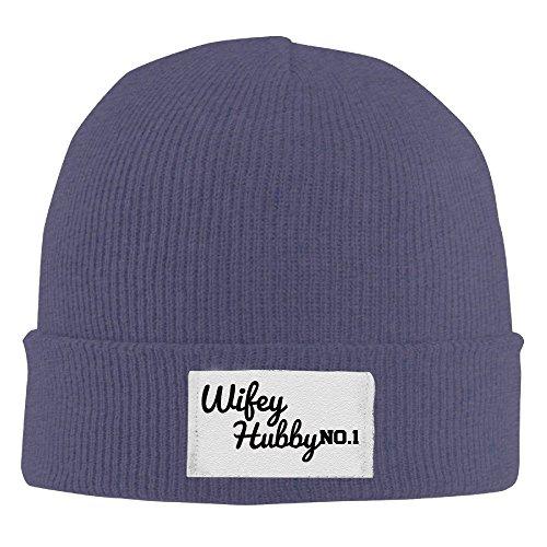 Wifey Hubby Skull Hat Navy ()