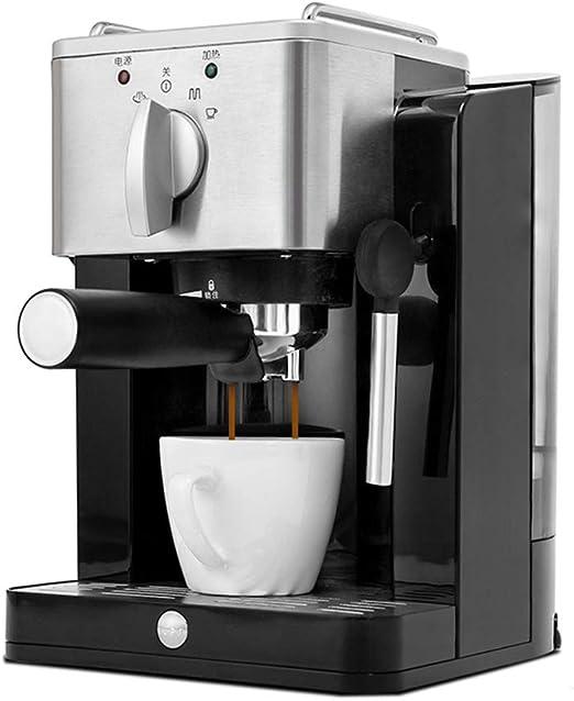 Cafetera Espresso 15 Bares, Cafetera Cappuccino y Latte 850W Boquilla de Espuma de Leche Profesional 1.2 L Tanque de Agua Calentamiento Rápido,Negro: Amazon.es: Hogar