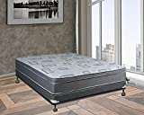 Spring Solution Fully Assembled Long Lasting Foam Encased 10'' Eurotop Orthopedic Back Support Mattress With 4'' Box Spring, Queen,Queen Size