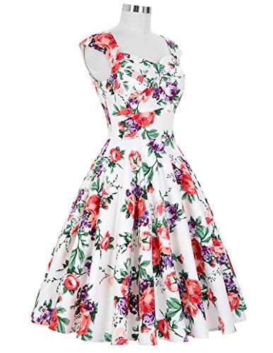 Floral Women Floral Print Picnic Dress Karin 8 Grace Knee Belle for Retro Length qwZPna8x