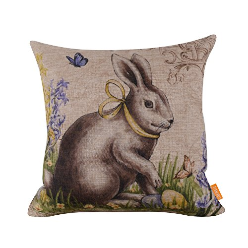 linkwell-18-by-18-happy-easter-retro-smile-rabbit-color-egg-burlap-cushion-covers-cc764