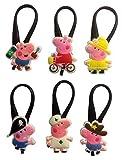 Peppa Pig Silicone Snap Lock Zipper Pulls 6 Pcs Set #2