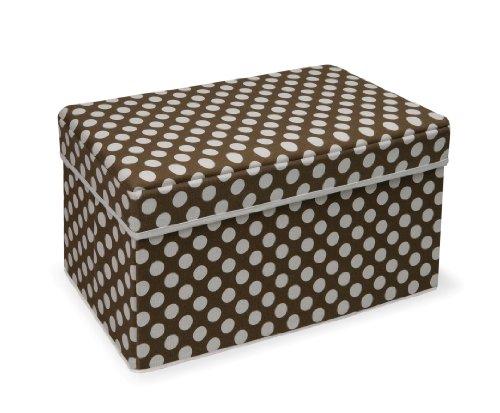 Double Folding Storage Organizer Ottoman Seat