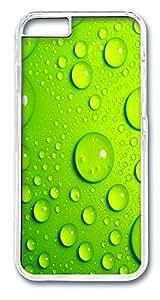 ICORER iPhone 6 Case Green Droplets Unique iPhone 6 Case PC Hard Plastics Case Cover for iPhone 6 Transparent