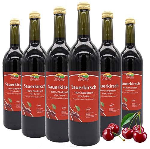 BLEICHHOF® Zure kersensap – 100% heerlijk direct sap – [6 x 0.72L] Vers fruit – zonder toegevoegde suikers en…
