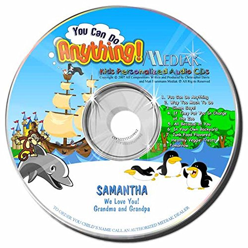 Gombita Enterprises Children's Personalized MEDIAK Music CD & MP3 - You Can Do Anything -