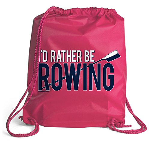 I'd Rather Be Rowing Sport Pack Cinch Sack | Crew Bags by ChalkTalk SPORTS | Pink Review