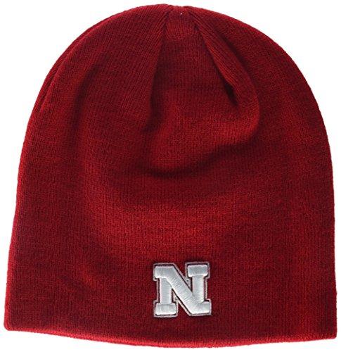 NCAA Nebraska Cornhuskers Adult Men Edge Knit Beanie, Adjustable, Team Color