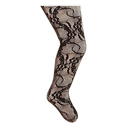 Country Kids Girls Stretchy Lace Footed Dance Party Tights, Pack of 1