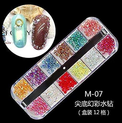 Lote de 3000 aplicaciones de estrás para decoración de uñas postizas, naturales o de gel, resistentes a los rayos UV, para colocar sobre el esmalte, ...