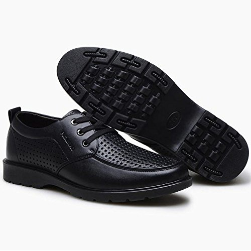 Black Arrotondata Casual Punta in Stringate da Business con Scarpe Pelle Scuro Marrone Stringate Casual Uomo Scarpe Basse Uomo per qwUwTd