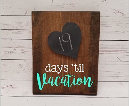 Vacation Countdown Tracker, reusable chalkboard calendar, photo clip for holding a picture optional, days until, weeks until florida disney (Disney Halloween Countdown Calendar)