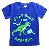 Little Boys Tee Dinosaur Summer Tops Toddler Crew Neck Casual T-Shirts