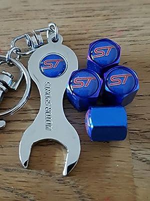 Eurotech ST Ford Azul Rueda Polvo Tapas para Válvulas con ...