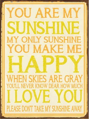 Amazon.com: You Are My Sunshine Metal Sign, Country Home Decor, Love ...