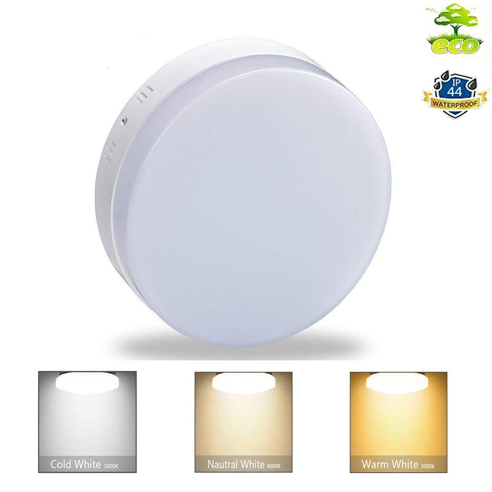 DLLT 18W Dimmable Led Flush Mount Ceiling Light Lighting with Remote-IP44  Waterproof Close to Ceiling Lights Fixture for Bathroom,Kitchen,Dining