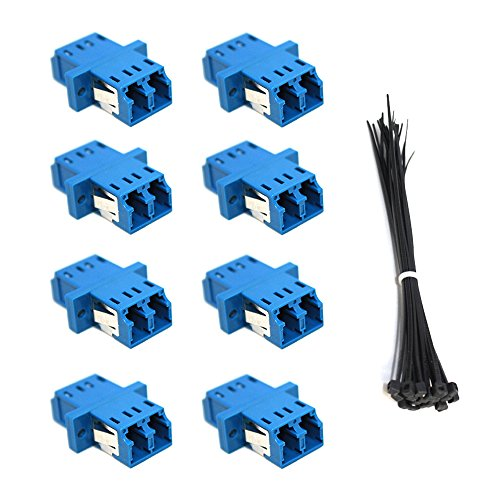 - Modus LC to LC Coupler Fiber Optic Adapter Singlemode Multimode 8 Pack Plus Comes with 20 Zip Ties