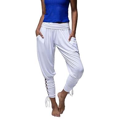 Décontracté Pantalon Sarouel Fluide Femme,Overdose Été Pantalons de Jogging  en Jersey Slim Casual Yoga 2472c049e1fb