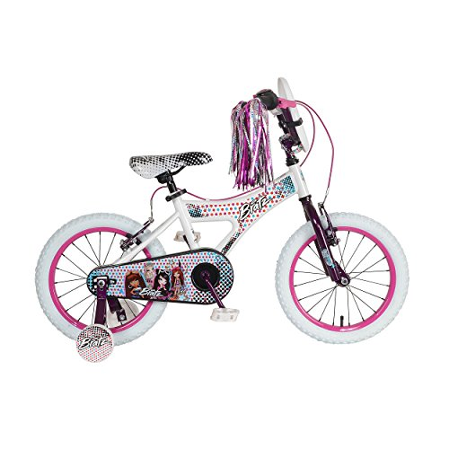 Bratz Kid's Bike, 16 inch Wheels, 11 inch Frame, Girl's Bike, White/Purple Bratz Girl Doll