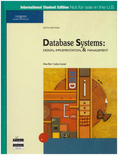 Database Systems: Design, Implementation and Management (Sixth ...