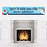 Big Dot of Happiness Shark Zone - Jawsome Shark Birthday Party Decorations Party Banner